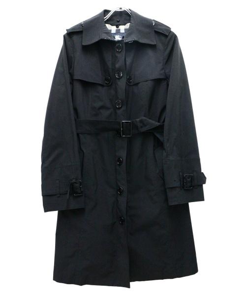 BURBERRY LONDON(バーバリーロンドン)BURBERRY LONDON (バーバリーロンドン) ステンカラーコート ブラック サイズ:38の古着・服飾アイテム