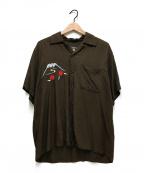 東洋エンタープライズ(トウヨウエンタープライズ)の古着「オープンカラースカシャツ」|ブラウン