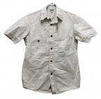 freewheelers(フリーホイーラーズ)の古着「半袖シャンブレーワークシャツ」 ホワイト