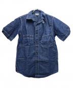 freewheelers(フリーホイーラーズ)の古着「半袖シャンブレーワークシャツ」 インディゴ
