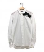 COMME des GARCONS HommePlus(コムデギャルソン オムプリュス)の古着「リボンデザイン長袖シャツ」|ホワイト