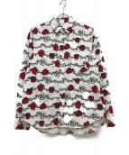 ()の古着「薔薇柄シャツ」|レッド