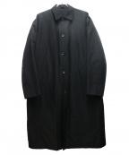 TARO HORIUCHI(タロウホリウチ)の古着「ステンカラーコート」 ブラック