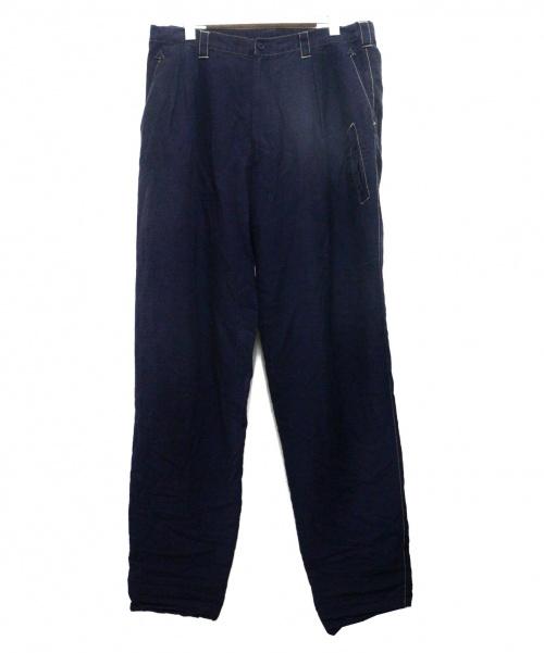YohjiYamamoto pour homme(ヨウジヤマモトプールオム)YohjiYamamoto pour homme (ヨウジヤマモトプールオム) 製品染め2タックパンツ インディゴ サイズ:2の古着・服飾アイテム