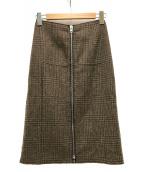 Maison Margiela4(メゾンマルジェラ4)の古着「ウールジップスカート」|ブラウン