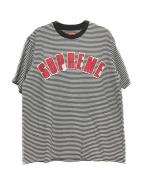 ()の古着「アークアップリケTシャツ」|ブラック×ホワイト