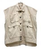 O project(オープロジェクト)の古着「sleeveless denim jacket」|ホワイト