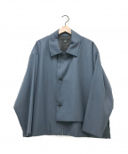HARE(ハレ)の古着「ジップアップオーバージャケット」 ブルー
