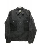 ()の古着「別注ミリタリーワークジャケット」|ブラック