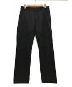 ()の古着「カット切替パンツ」|ブラック