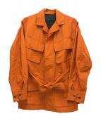 ES:S(エス)の古着「ミリタリーファティーグジャケット」|オレンジ