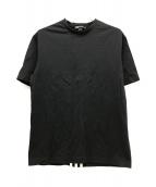 ()の古着「スリーラインロゴTシャツ」 ブラック