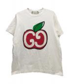 GUCCI(グッチ)の古着「GGアップルスパンコールTシャツ」|ホワイト