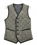 LAVENHAM(ラベンハム)の古着「リバーシブルキルトベスト」|グレー×ブラック