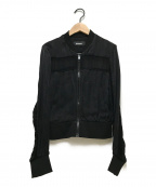 DIESEL()の古着「シースルー切替ジャケット」|ブラック