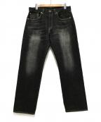 eYe COMME des GARCONS JUNYAWAT(コム デ ギャルソン ジュンヤ ワタナベ マン)の古着「レザーパッチポケットデニムパンツ」 ブラック