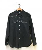 Calvin Klein(カルバンクライン)の古着「ストレッチウエスタンシャツ」|ブラック