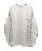 KUON(クオン)の古着「SASHIKO TATTERSALL Long Sleeve」|ホワイト