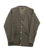 SONIC LAB(ソニックラブ)の古着「総柄シャツカーディガン」|ブラウン