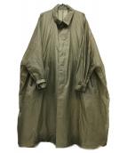 LOUIS VUITTON(ルイ ヴィトン)の古着「ミリタリーナイロンコート」|グリーン