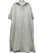 ticca(ティッカ)の古着「リネンスキパーワンピース」|ライトグリーン
