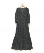 Loungedress(ラウンジドレス)の古着「ドットティアードワンピース」 ブラック
