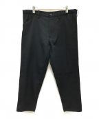GANRYU(ガンリュウ)の古着「ウールテーパードパンツ」 ブラック