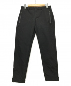 PT TORINO(ピーティートリノ)の古着「ストレッチナイロンノープリーツテーパードパンツ」|ブラック