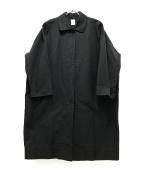 休日と詩(キュウジツトウタ)の古着「コットンナイロンステンカラーコート」|ブラック