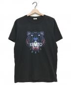 KENZO()の古着「Tiger Print Tshirt」|ブラック