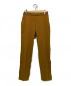 TOMORROW LAND collection(トゥモローランドコレクション)の古着「センタープレスパンツ」|ブラウン