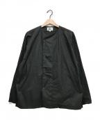 Pilgrim Surf+Supply(ピルグリム サーフ+サプライ)の古着「Bruno No Collar Shirt」 ブラック
