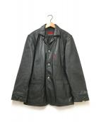 ()の古着「カウレザージャケット」 ブラック