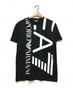 EMPORIO ARMANI EA7(エンポリオアルマーニ イーエーセブン)の古着「半袖Tシャツ」|ブラック