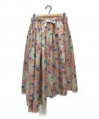 ASTRAET(アストラット)の古着「ギャザースカート」|ベージュ