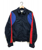COMME des GARCONS SHIRT(コムデギャルソンシャツ)の古着「ナイロンジップブルゾン」 ネイビー