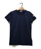 MONCLER(モンクレール)の古着「UネックTシャツ」|ネイビー