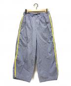 digawel(ディガウェル)の古着「ストライプイージーパンツ」|ブルー