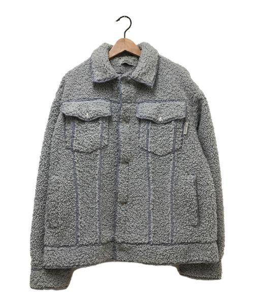 EMPTY REFERENCE(エンプティリファレンス)EMPTY REFERENCE (エンプティリファレンス) スマイルシェルホパボディジャケット グレー サイズ:Sの古着・服飾アイテム