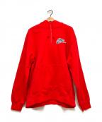 SUPREME×NIKE(シュプリーム×ナイキ)の古着「Half Zip Hooded Sweatshirt」|レッド
