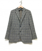 TAGLIATORE(タリアトーレ)の古着「チェックテーラードジャケット」|グレー