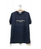 ()の古着「ボックスロゴTシャツ」|ネイビー