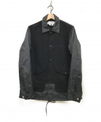 GANRYU(ガンリュウ)の古着「切替コーチジャケット」 ブラック
