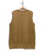 crepuscule(クレプスキュール)の古着「Moss Stitch Vest」|ブラウン