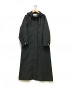 le.coeur blanc(ルクールブラン)の古着「フードロングコート」 ブラック