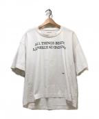 AMBUSH(アンブッシュ)の古着「ALL THINGS BEGIN TEE」 ホワイト
