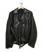 1piu1uguale3(ウノピゥウノウグァーレトレ)の古着「レザーライダースジャケット」|ブラウン