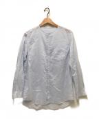 ゴーシュ(ゴーシュ)の古着「前開きノーカラーシャツ」|スカイブルー
