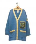 MADISON BLUE(マディソンブルー)の古着「BIG SCHOOL CARDIGAN」 スカイブルー