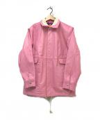 blackmeans(ブラックミーンズ)の古着「CIRCLE LEATHER JACKET」|ピンク